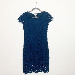 Skies Are Blue Elisha Lace Dress Blue Stitch Fix